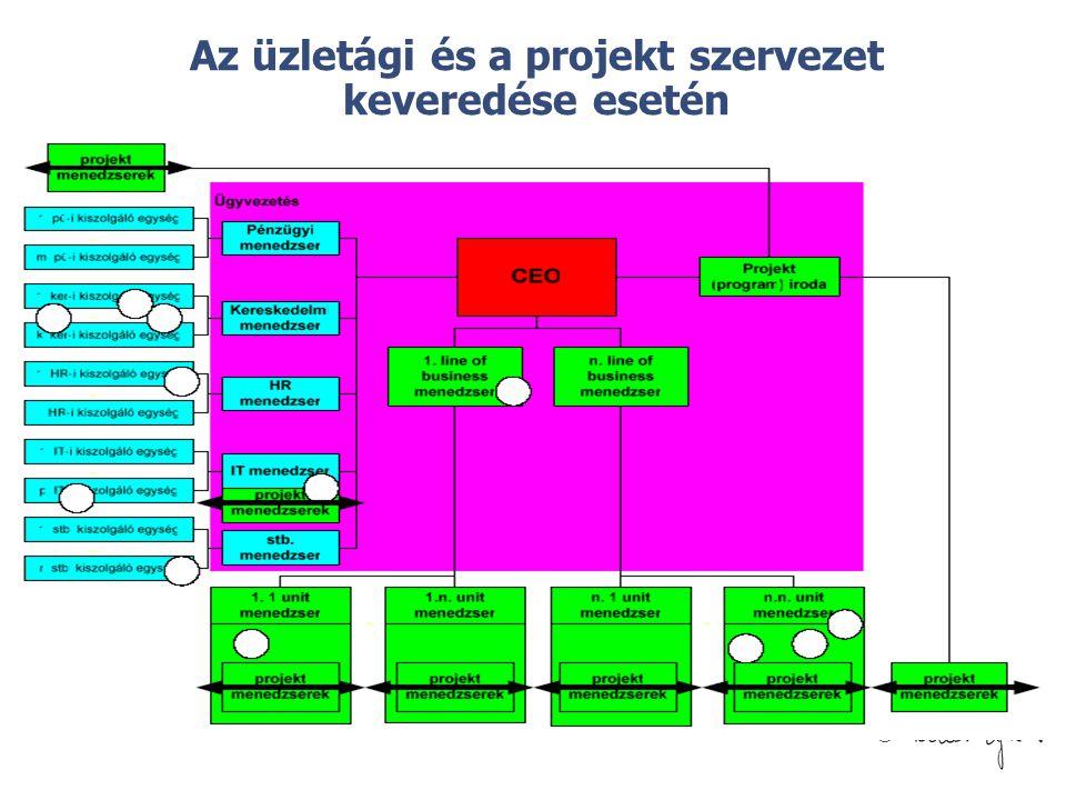 © Az üzletági és a projekt szervezet keveredése esetén