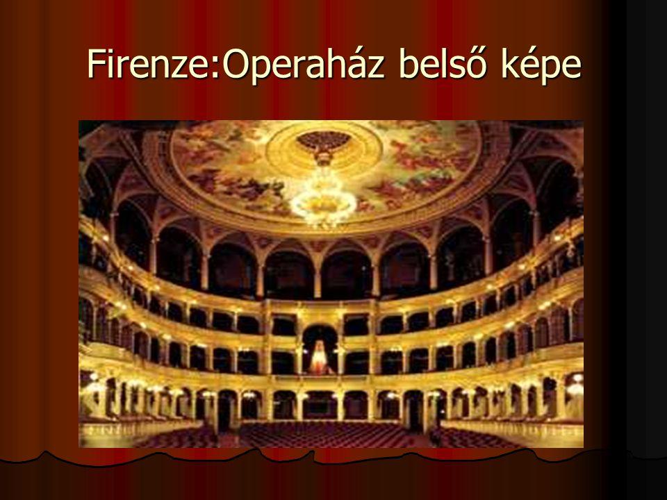 Firenze:Operaház belső képe