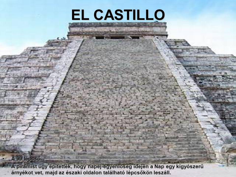 """Chichen-Itza az """"Ígéret földje"""" a maja-tolték civilizáció egyik legfényesebb bizonyítéka. Több épülete is van a leletnek.; a Kukulkan-piramis (El Cast"""