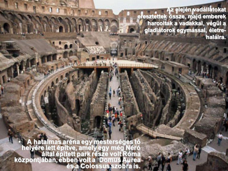 Vespasianus császár, a Flavius dinasztia alapítója, i.u. 72-ben kezdte el az építkezési munkálatokat, de hét év után az épület még nem érte el a terve