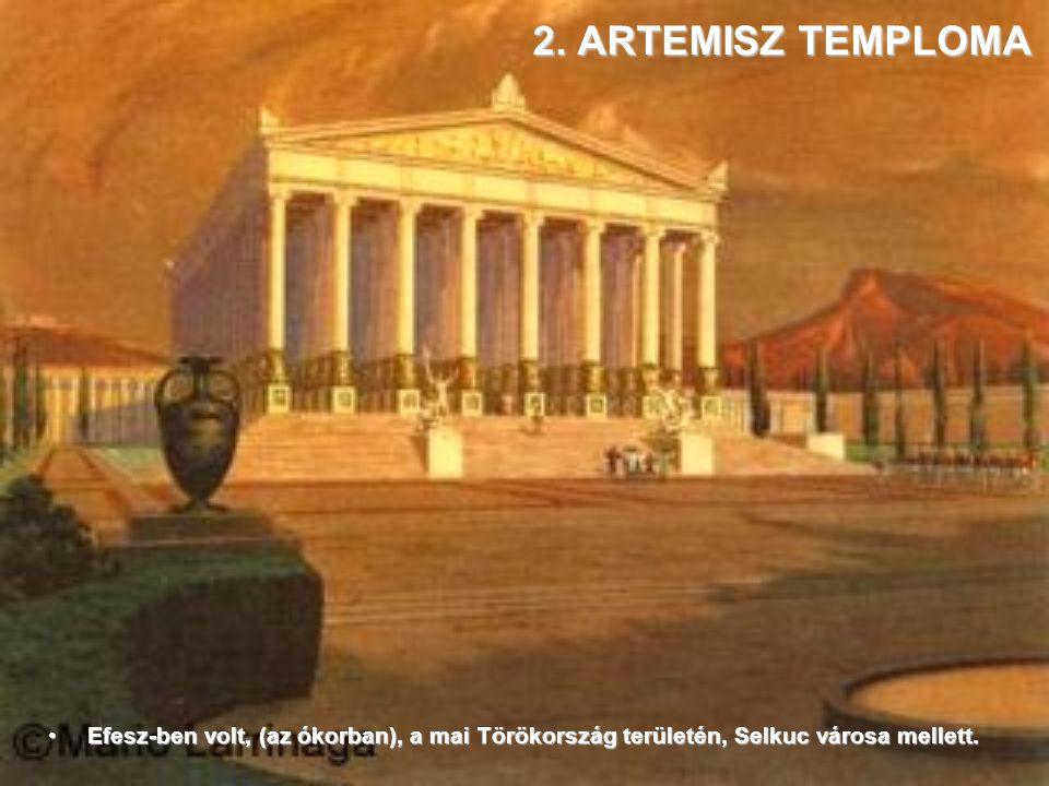 1. ZEUSZ SZOBRA Olimpia városában,Görögország nyugati partvidékén, 150 km-re Athéntől.