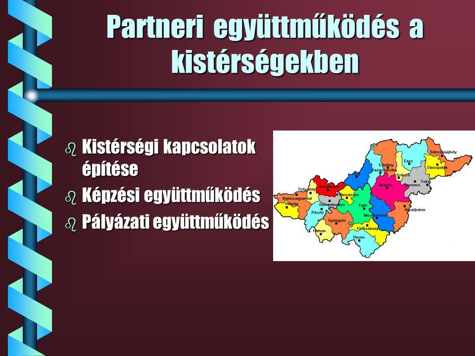 A regionális szerepből adódó feladatok b Pályaorientáció b Képzési tanácsadás b Képzés szervezés b Pályázati együttműködés b Munkaerő-piaci szolgáltat