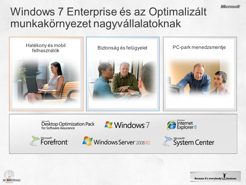 Key FeaturesWindows® 7 StarterWindows® 7 Home Basic (EM only) Windows® 7 Home Premium Windows ® 7 Professional Windows® 7 Enterprise/ Windows® 7 Ultimate Improved Windows® Taskbar & Jump Lists√√√√√ Windows® Search√√√√√ Join a HomeGroup√√√√√ Windows Media® Player√√√√√ Back-up & Restore√√√√√ Action Center√√√√√ Device Stage™√√√√√ Enhanced home media streaming, including Play To √√√√√ Application CapabilitiesUnlimited Live Thumbnail Previews from Taskbar √√√√ Fast User Switching √√√√ Create ad-hoc wireless networks √√√√ Internet Connection Sharing √√√√ Aero® Glass & advanced Window navigation √√√ Windows® Touch (Multi-touch and handwriting support) √√√ Create a HomeGroup √√√ Windows® Media Center √√√ DVD Video playback and authoring √√√ Location Aware Printing √√ Domain Join & Group Policy Controls √√ Remote Desktop Host √√ Advanced Back-up (Network & Group Policy) √√ Encrypting File System √√ BitLocker™ & BitLocker To Go™ √ AppLocker™ √ DirectAccess √ BranchCache™ √ MUI Language Packs √ Summary of Major Features by SKU Note: features and functionality described in this presentation or exposed in the pre-release versions of Windows 7 are not guarantee of inclusion in the final, released product or specific SKUs.