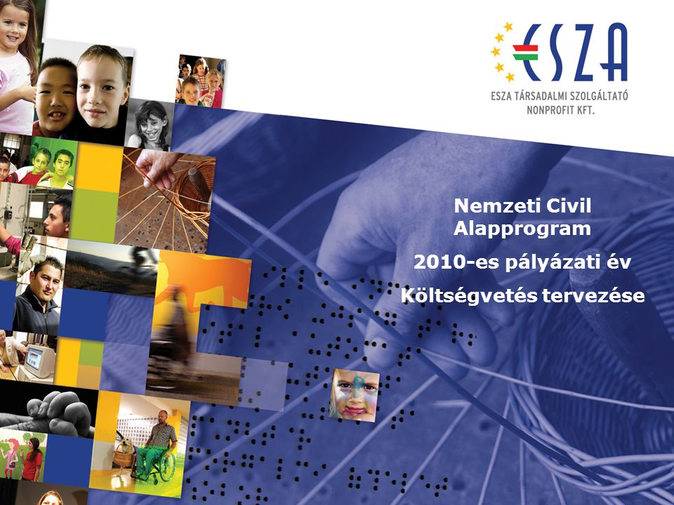 Támogatási időszak (működési, szakmai): A pályázó által a pályázatban megjelölt 2010.