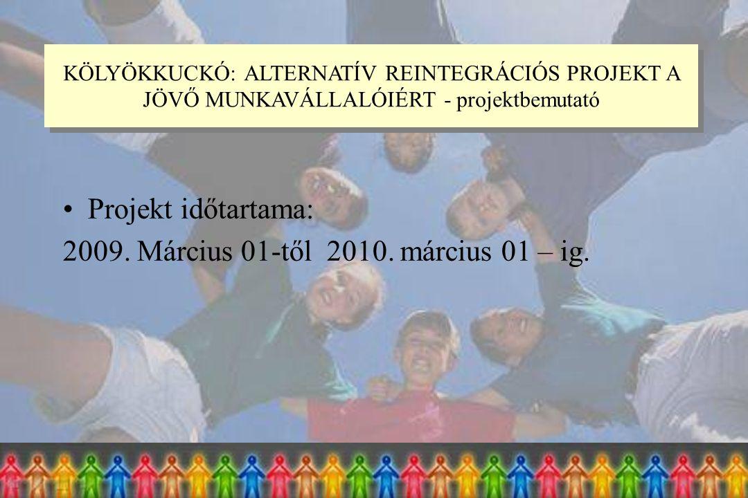 Projekt időtartama: 2009. Március 01-től 2010. március 01 – ig.