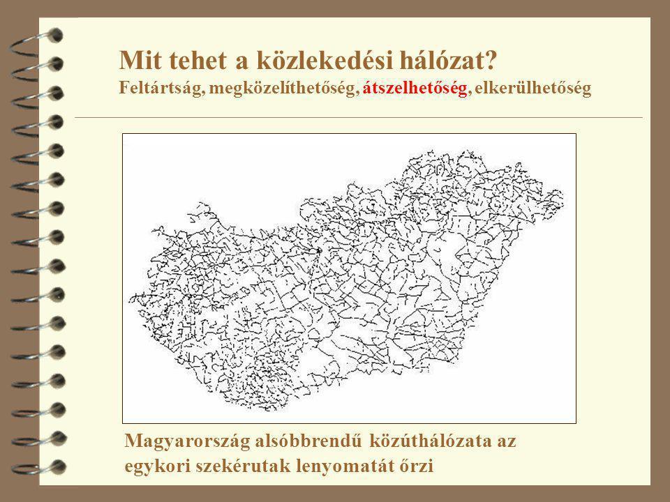 Mit tehet a közlekedési hálózat? Feltártság, megközelíthetőség, átszelhetőség, elkerülhetőség Magyarország alsóbbrendű közúthálózata az egykori szekér