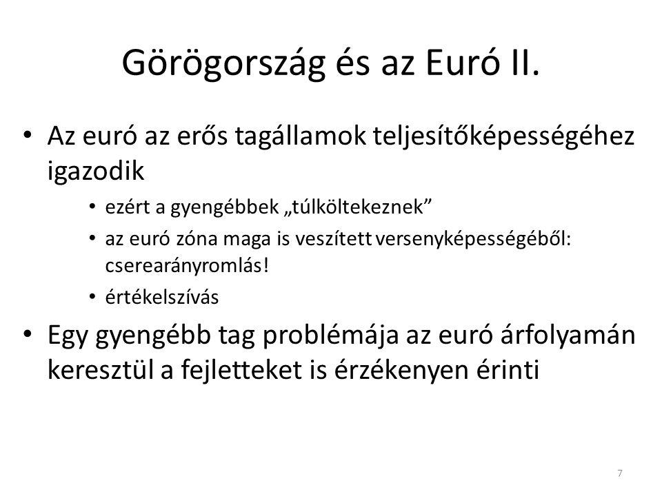 Görögország és az Euró II.