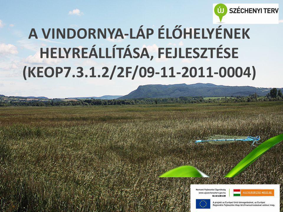 A VINDORNYA-LÁP ÉLŐHELYÉNEK HELYREÁLLÍTÁSA, FEJLESZTÉSE (KEOP7.3.1.2/2F/09-11-2011-0004)