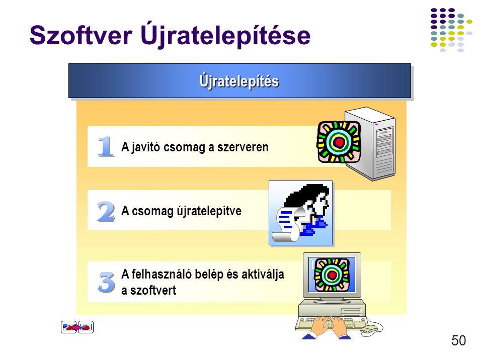51 A telepített szoftver eltávolítása Szoftver eltávolítás Választható Eltávolítás A szoftver nem távolítódik el de, nem lehet frissíteni Kötelező Eltávolítás A szoftver automatikusan és választási lehetőség nélkül eltávlítódik