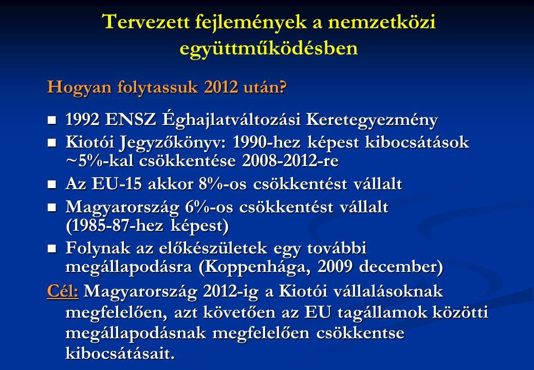 Tervezett fejlemények a nemzetközi együttműködésben Hogyan folytassuk 2012 után.