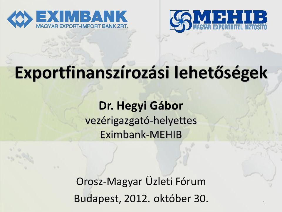 Orosz-Magyar Üzleti Fórum Budapest, 2012. október 30. 1