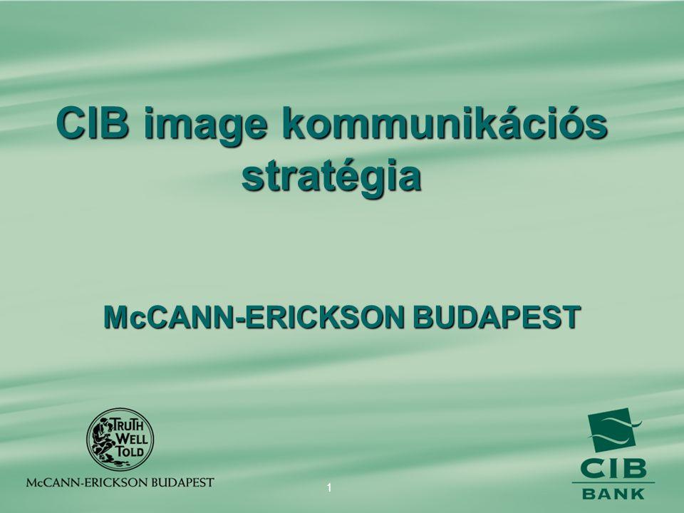 1 CIB image kommunikációs stratégia McCANN-ERICKSON BUDAPEST