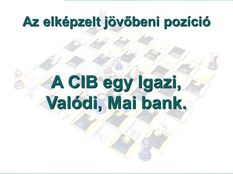 41 Az elképzelt jövőbeni pozíció A CIB egy Igazi, Valódi, Mai bank.