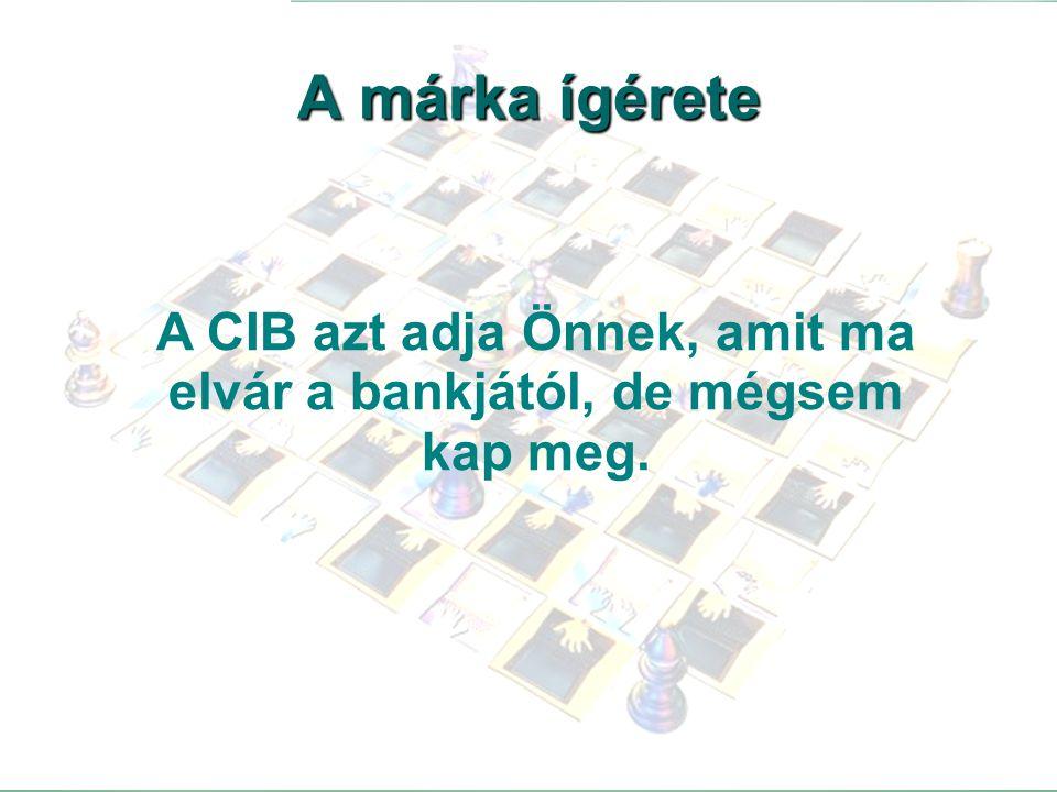 46 A CIB azt adja Önnek, amit ma elvár a bankjától, de mégsem kap meg. A márka ígérete