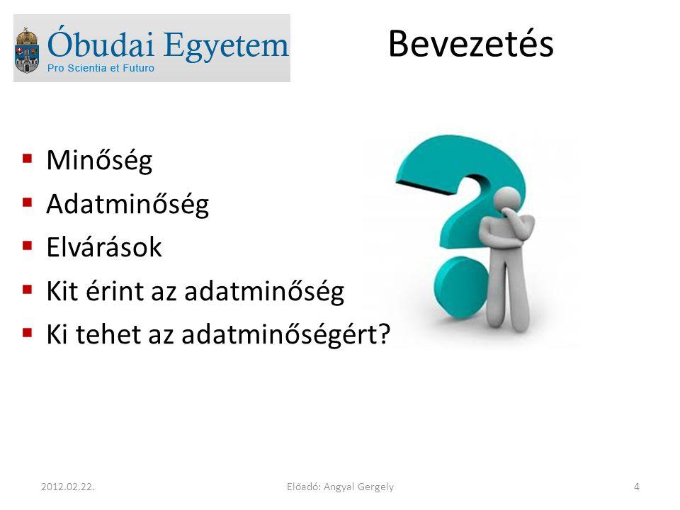 Előadó: Angyal Gergely152012.02.22.