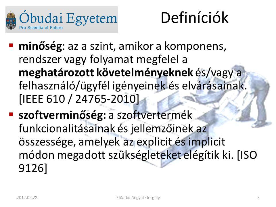 Előadó: Angyal Gergely162012.02.22. Titulusok  dr.