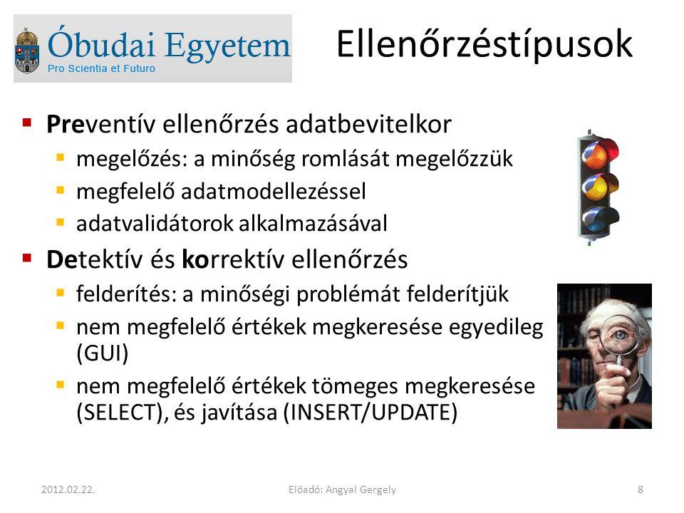 Előadó: Angyal Gergely192012.02.22.