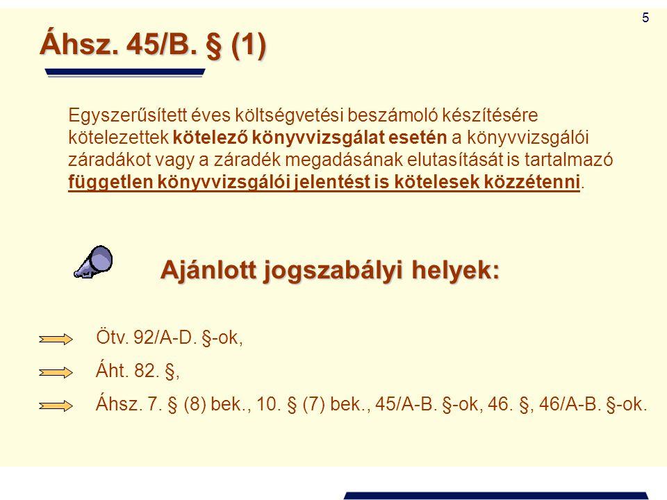 26 e) az Áht.15/A.