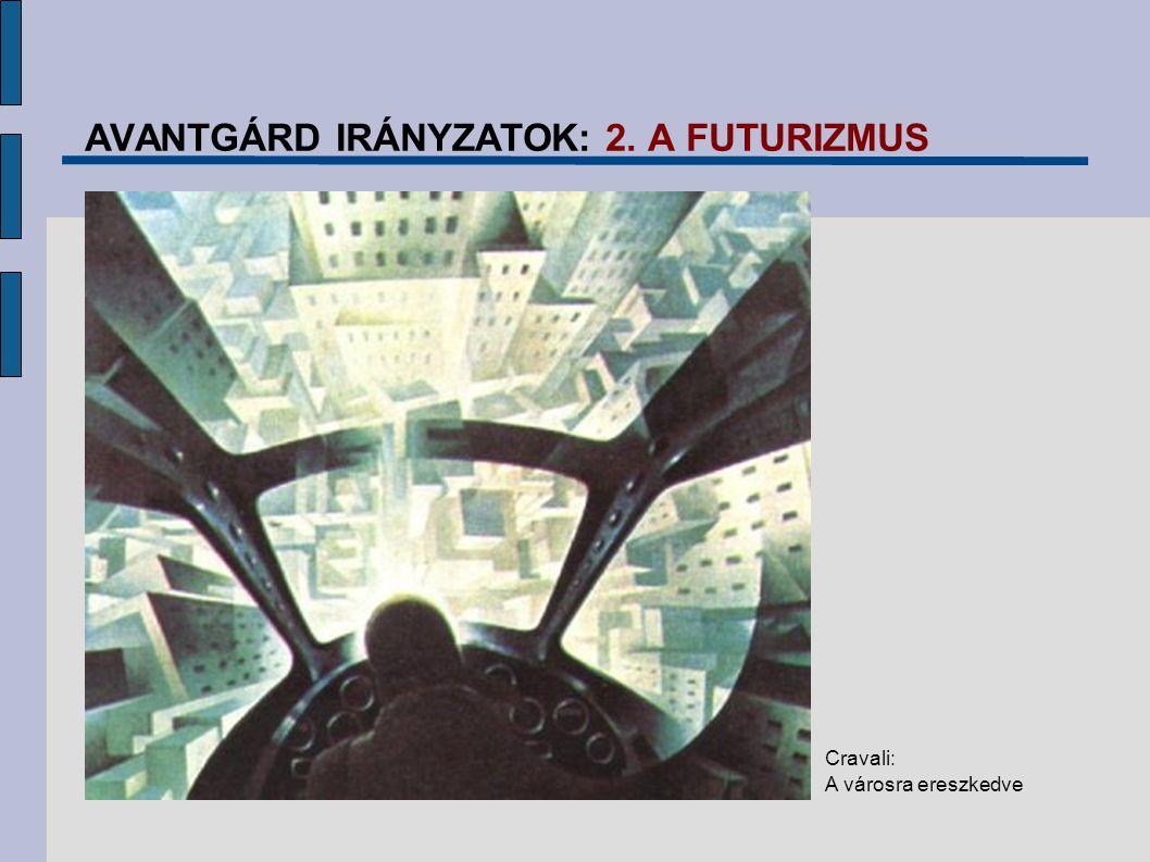 AVANTGÁRD IRÁNYZATOK: 2. A FUTURIZMUS Cravali: A városra ereszkedve