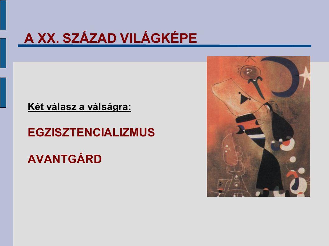 """AZ AVANTGÁRDRÓL ÁLTALÁNOSSÁGBAN """"avant garde (fr.) = előőrs művészeti forradalom szakítás a hagyományos művészettel új kifejezési formák keresése"""