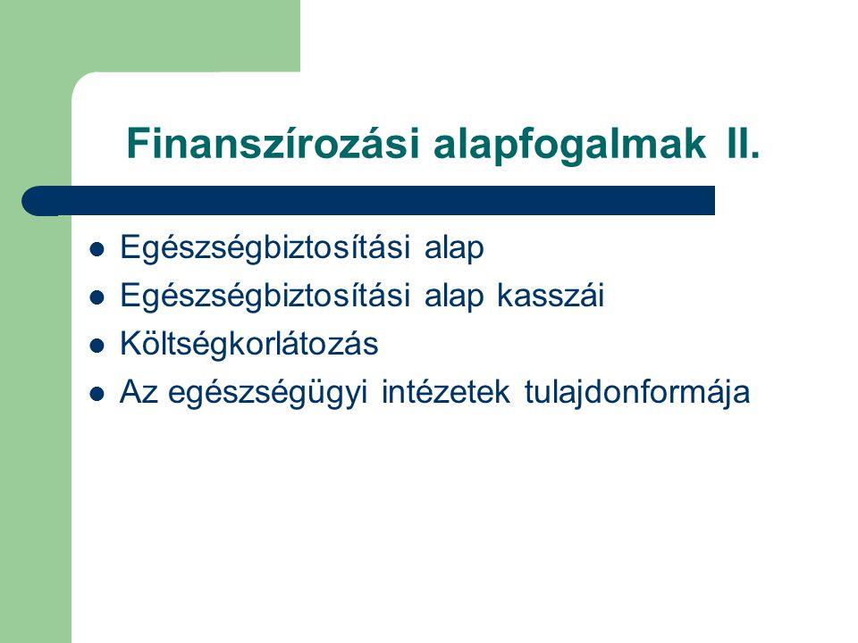 Finanszírozási alapfogalmakII.