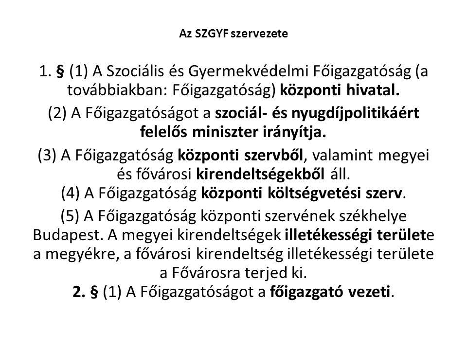 Az SZGYF szervezete 1.