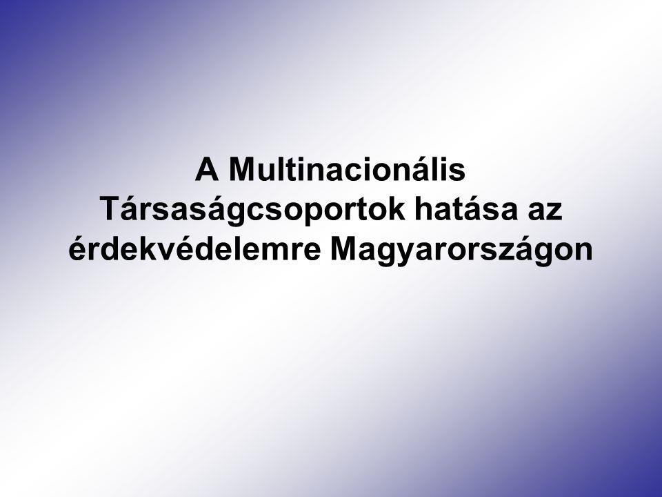 A Multinacionális Társaságcsoportok hatása az érdekvédelemre Magyarországon