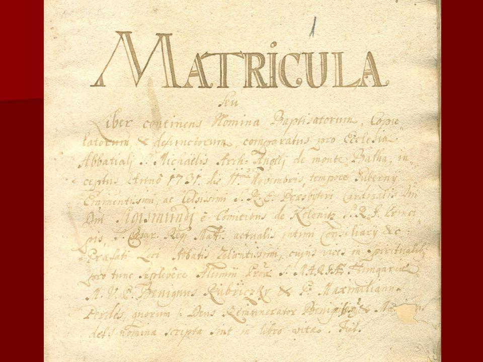A címoldal fordítása MATRICULA, avagy a kereszteltek, házasultak és elhunytak neveit tartalmazó könyv, amelyet a Báta hegyén lévő, Szent Mihály arkangyalról elnevezett apátsági egyház vezet, 1731.