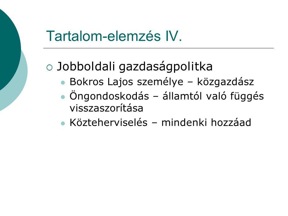 Tartalom-elemzés IV.