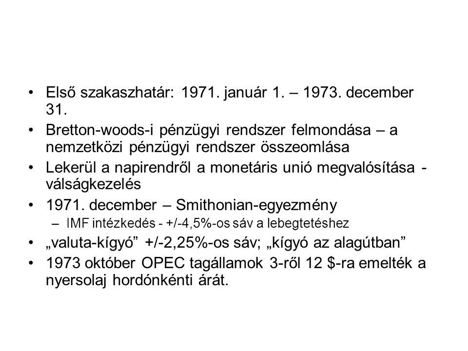 Első szakaszhatár: 1971.január 1. – 1973. december 31.