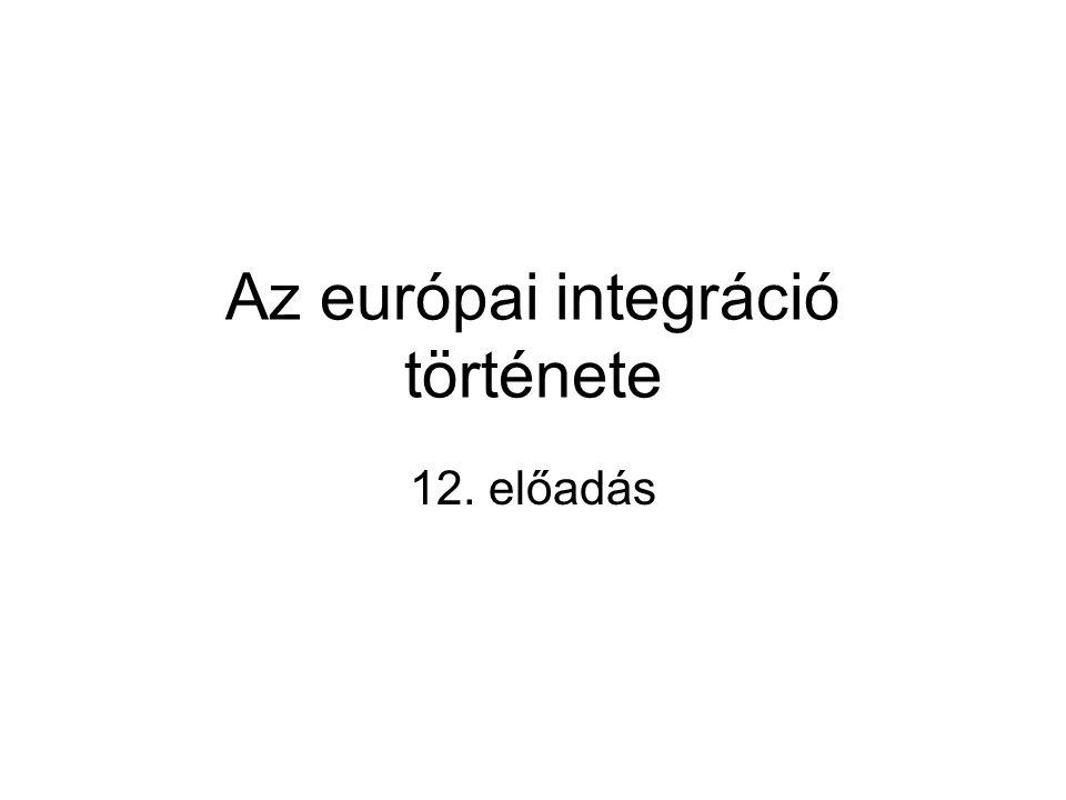 Az európai integráció története 12. előadás