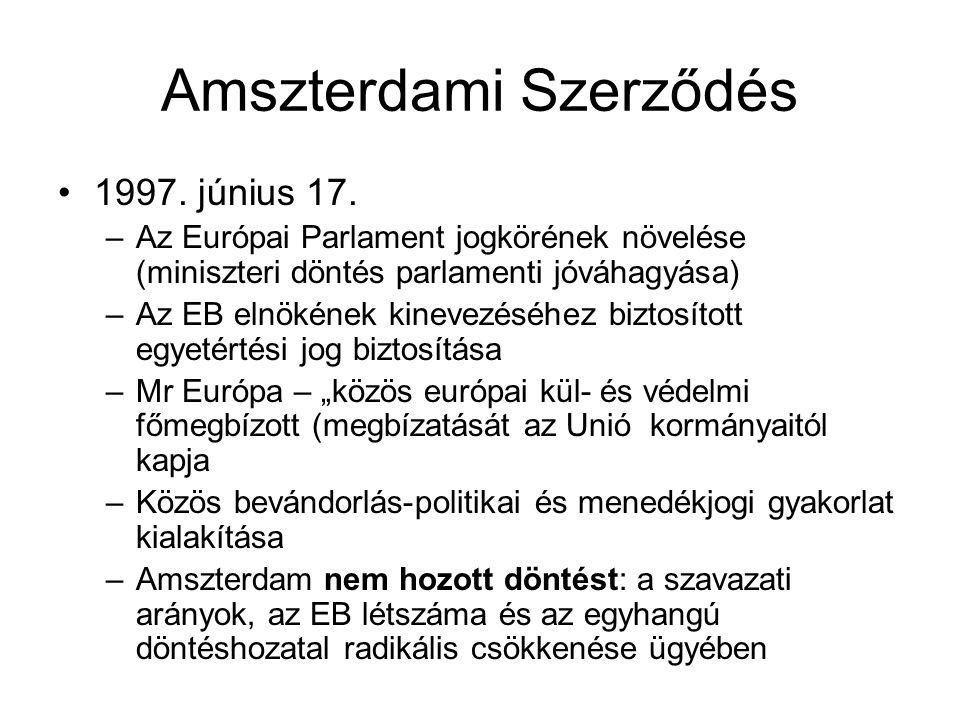 Amszterdami Szerződés 1997.június 17.