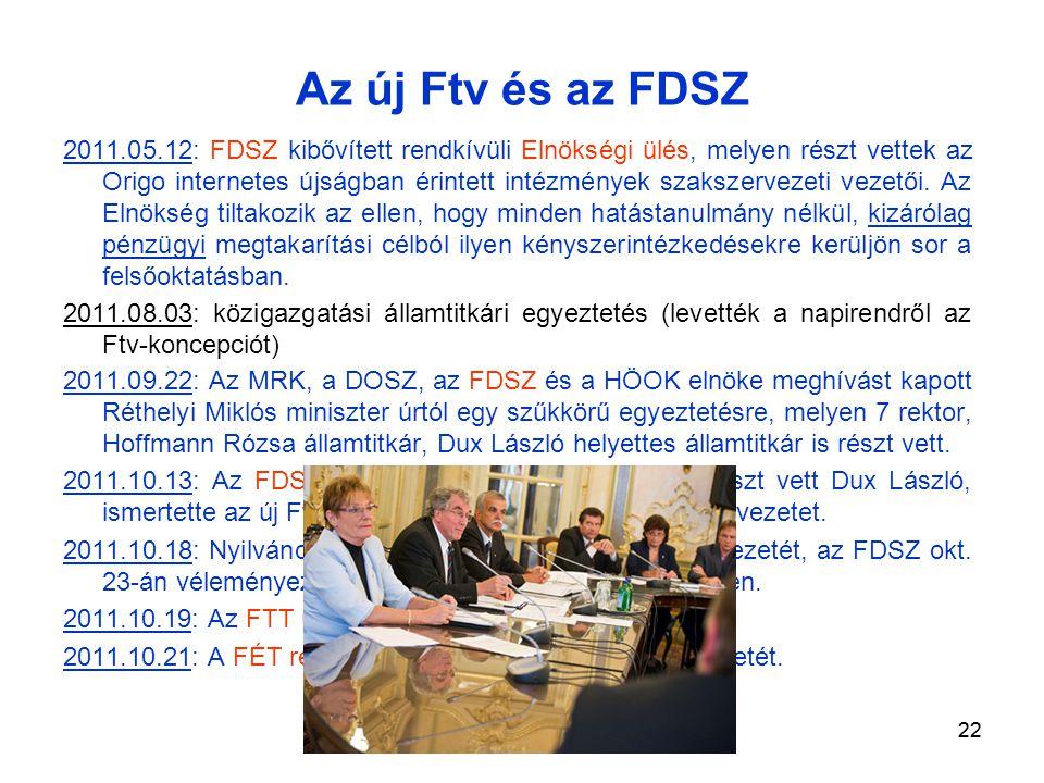 22 2011.05.12: FDSZ kibővített rendkívüli Elnökségi ülés, melyen részt vettek az Origo internetes újságban érintett intézmények szakszervezeti vezetői.