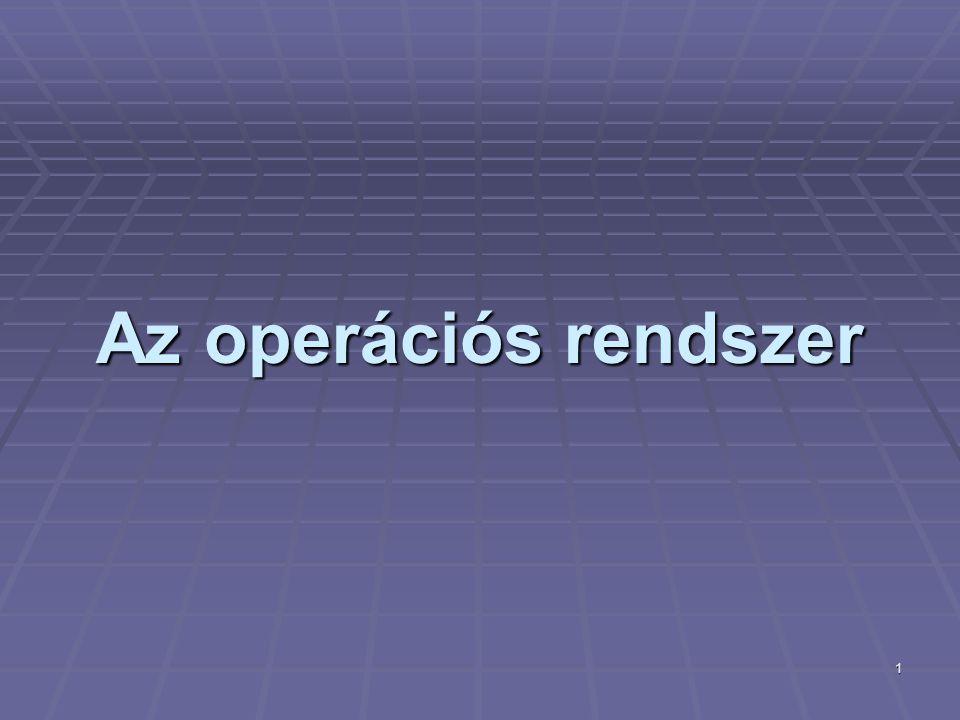 2 Az operációs rendszer definíciója  Operációs rendszernek (OS: operating system) nevezzük a számítógépeknek azt az alapprogramját, mely közvetlenül kezeli a hardvert, és egy egységes környezetet biztosít a számítógépen futtatandó alkalmazásoknak.