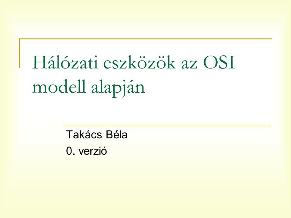 Hálózati eszközök az OSI modell alapján Takács Béla 0. verzió
