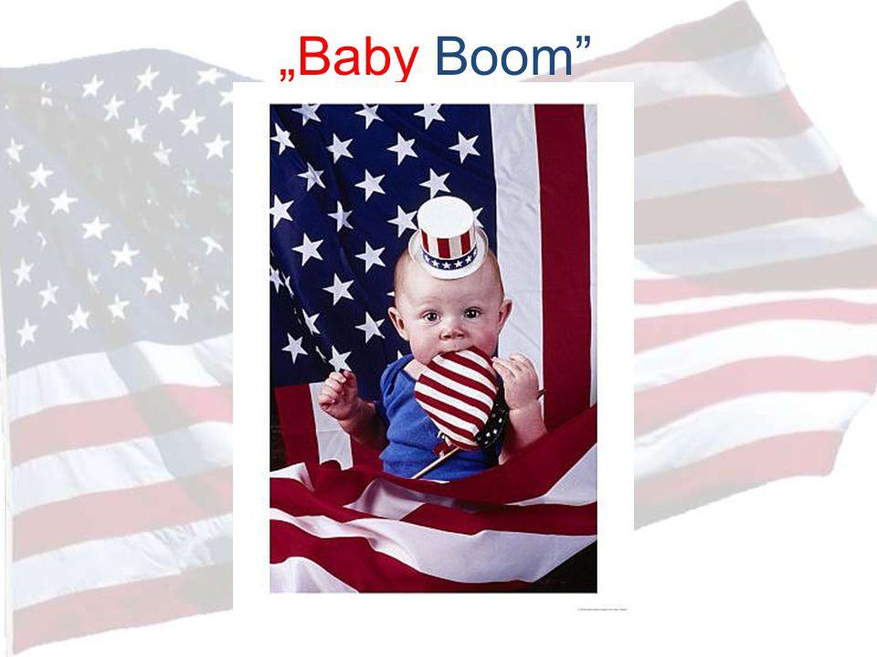 """A jövő Amerikája Etnikai összetétel: o döntő többségben: latin-amerikaiak o kisebb gyarapodás: afro-amerikaiak o csökken: fehér népesség száma o elöregedő társadalom: 65+ lakosság száma megnő o 85+ lakosság megtriplázódik (""""baby boomers )"""