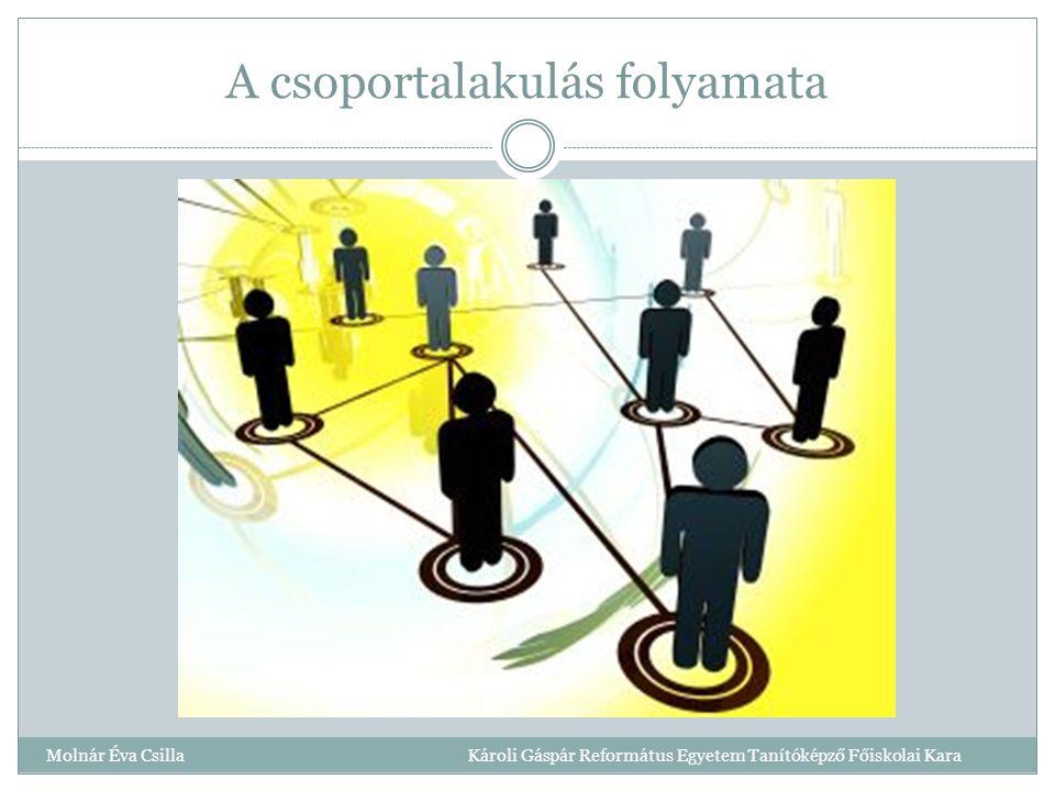 A csoportalakulás folyamata Molnár Éva Csilla Károli Gáspár Református Egyetem Tanítóképző Főiskolai Kara