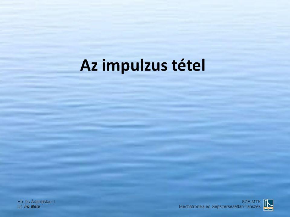 Az impulzus tétel Hő- és Áramlástan I. Dr. Író Béla SZE-MTK Mechatronika és Gépszerkezettan Tanszék