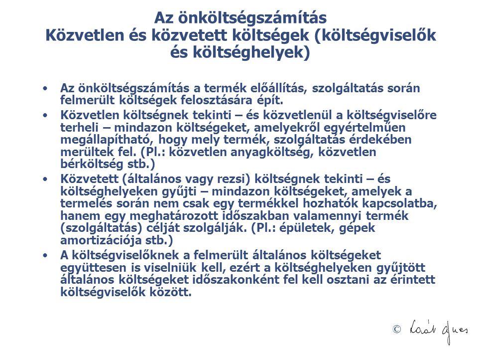 © Az erőforrások csoportosítása Lázár nyomán  Lázár L.: Értékek és mértékek - A vállalati erőforrás-felhasználás leképzése és elemzése hazai üzleti szervezetekben – BKÁE PhD értekezés 2002, p.
