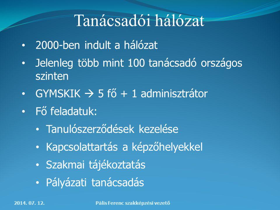Tanácsadói hálózat 2014. 07.