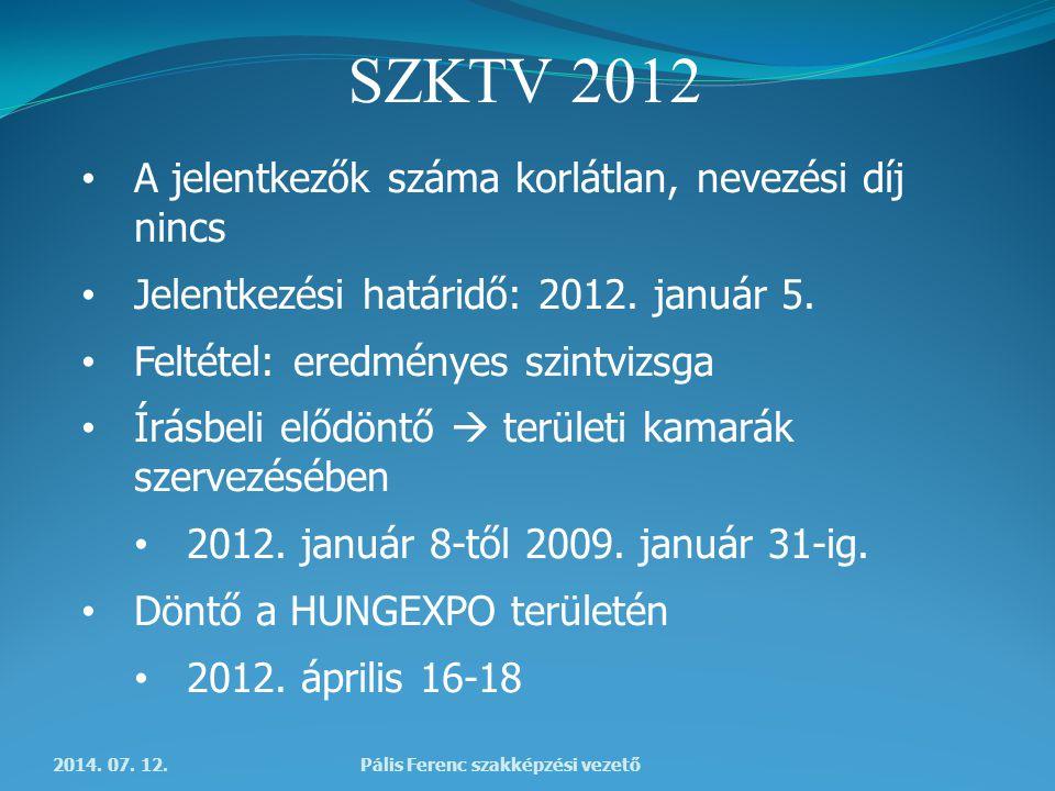 SZKTV 2012 2014. 07.