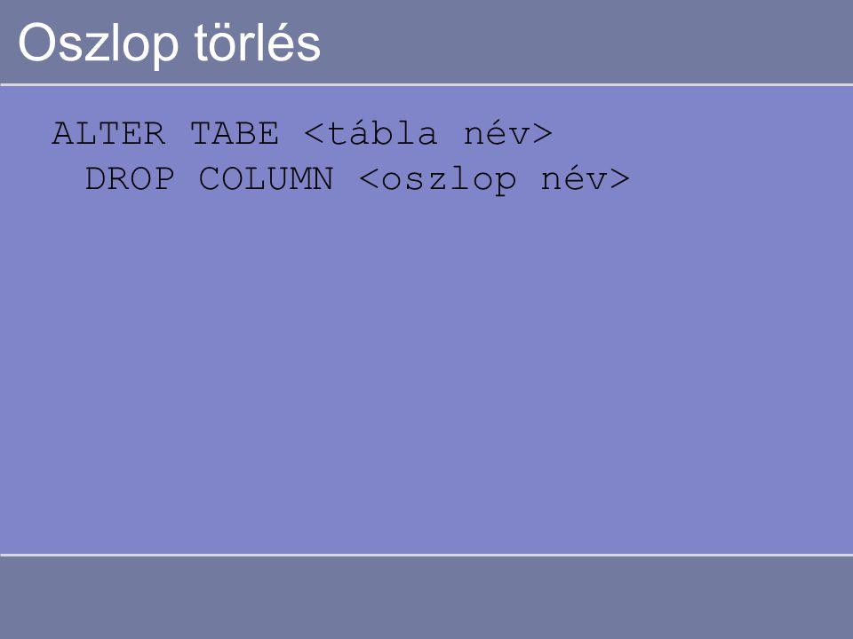 """Adatok lekérdezése Input: 1 vagy több tábla Output: a megfogalmazott feltételeknek eleget tevő rekordokat tartalmazó """"tábla"""