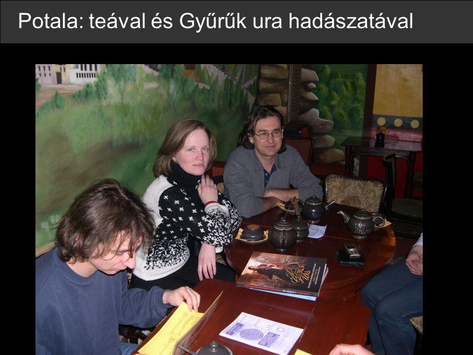 Meeting Salgótarjánban (Marco, Johann, Syttha, Unikornis, Ndy, Aldyr, Tanaka (Marco felett), Lórien, Algol)