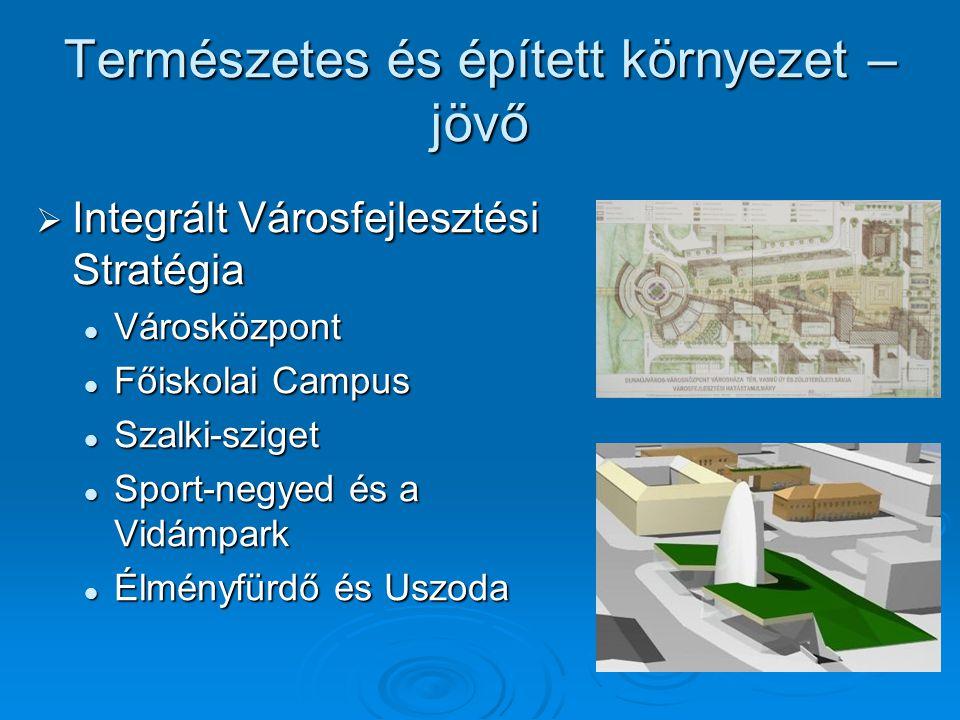 Természetes és épített környezet – jövő  Integrált Városfejlesztési Stratégia Városközpont Városközpont Főiskolai Campus Főiskolai Campus Szalki-szig