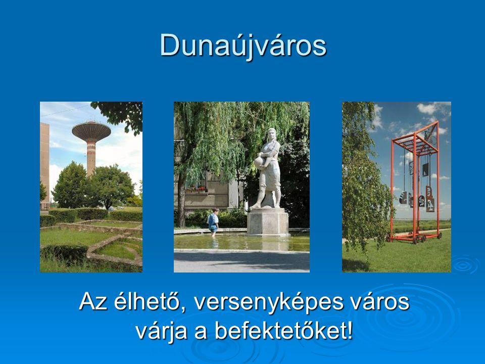 Dunaújváros Az élhető, versenyképes város várja a befektetőket!