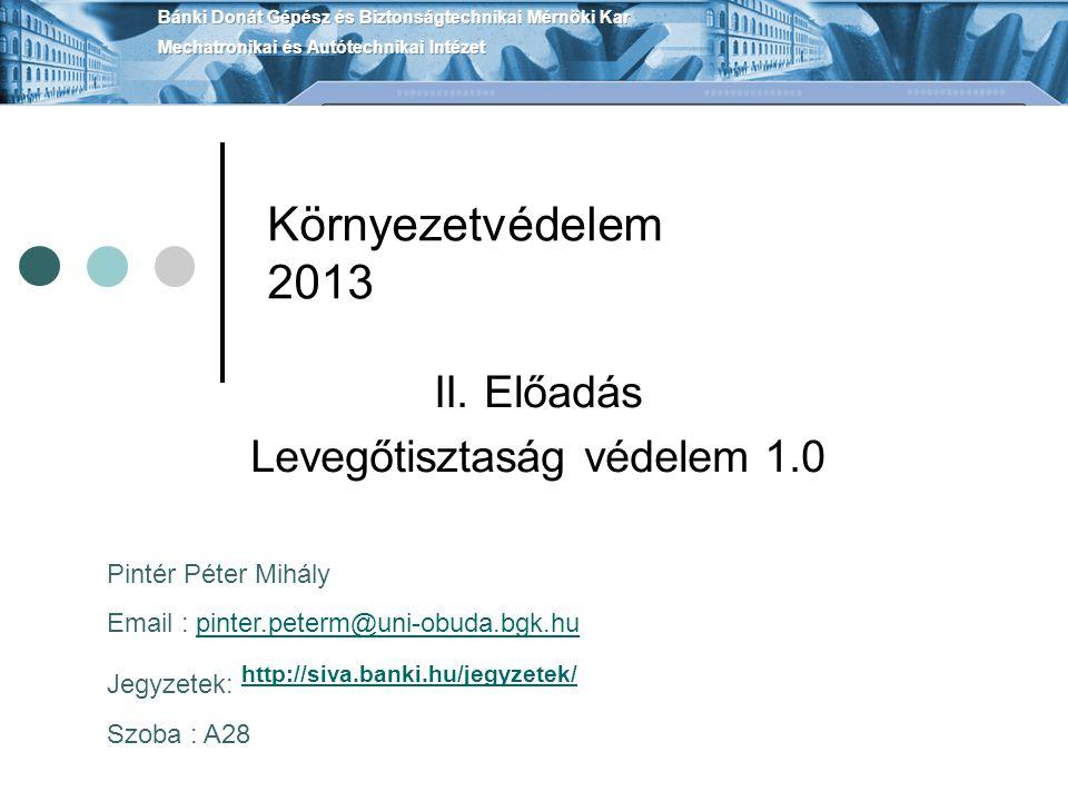Környezetvédelem 2013 II.