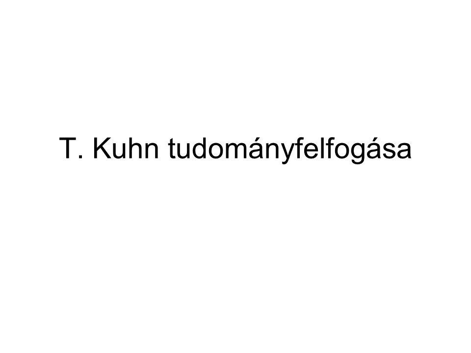 T. Kuhn tudományfelfogása