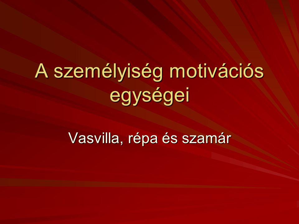 A személyiség motivációs egységei Vasvilla, répa és szamár