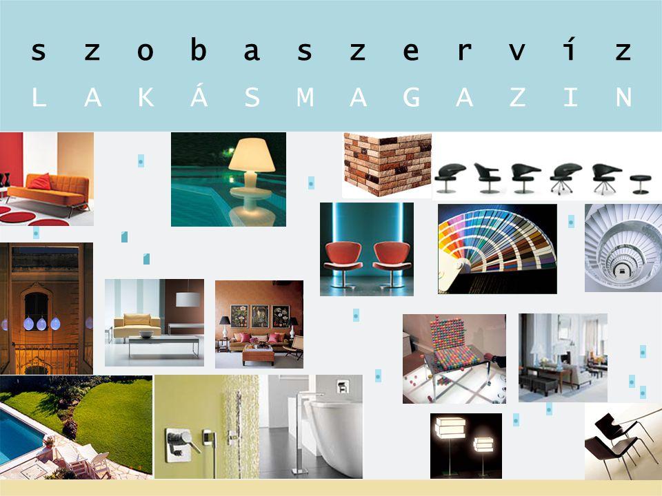 p o r t á lp o r t á l Szobaszervíz lakásmagazin internetes portál Az internetes Szobaszervíz lakásmagazin a Viasat3 televíziós csatornán sugárzott műsor szakmai-kreatív csapata online változatot dolgozott ki, amely igényes lakberendezéssel, belsőépítészettel, bútor- és tárgykultúrával foglalkozik.
