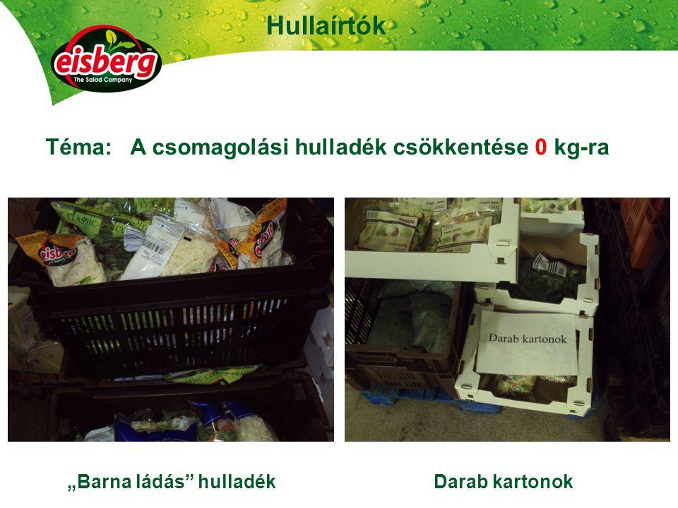 """23 Hullaírtók Téma: A csomagolási hulladék csökkentése 0 kg-ra """"Barna ládás hulladék Darab kartonok"""